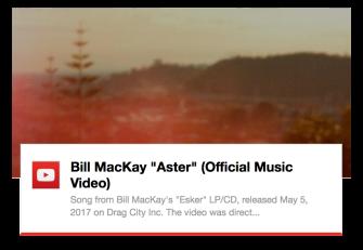 Bill MacKay Aster video by Marc Riordan on YouTube