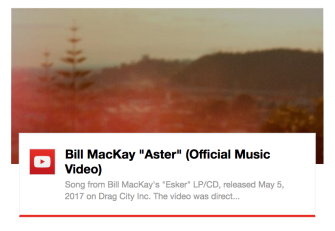 Bill MacKay Aster video by Marc Riordan on YouTube